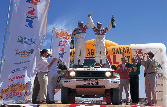 The first Japanese person to become overall winner of the Paris-Dakar Rally